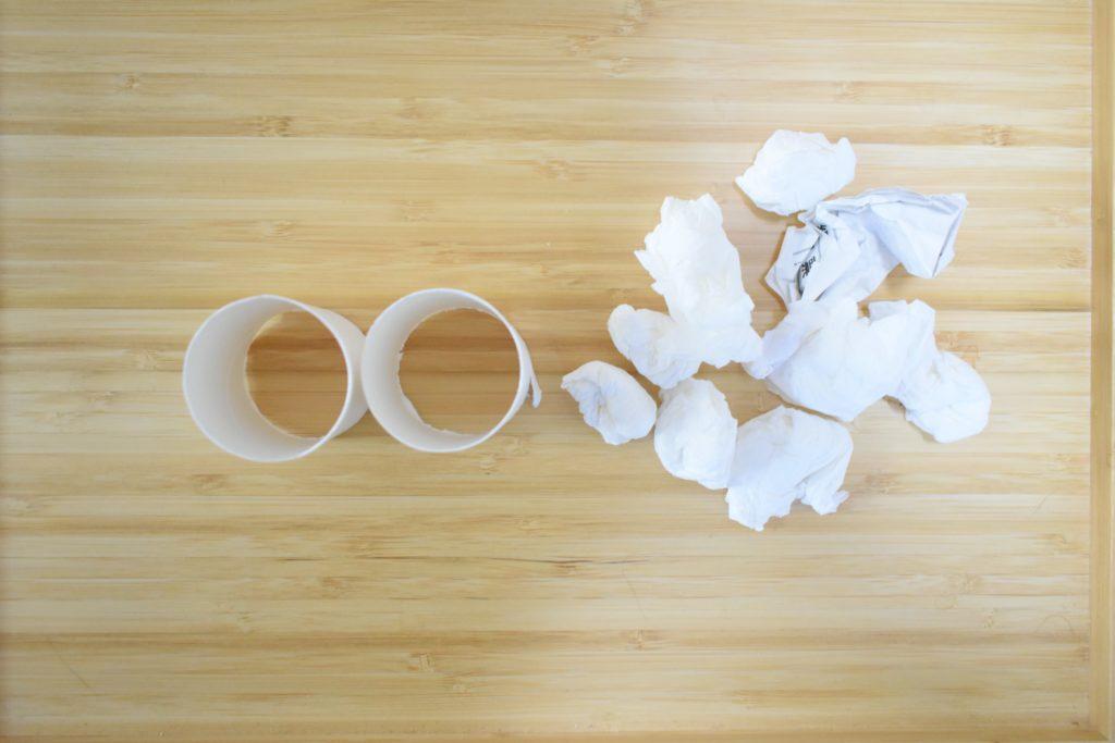 芯と紙ゴミ