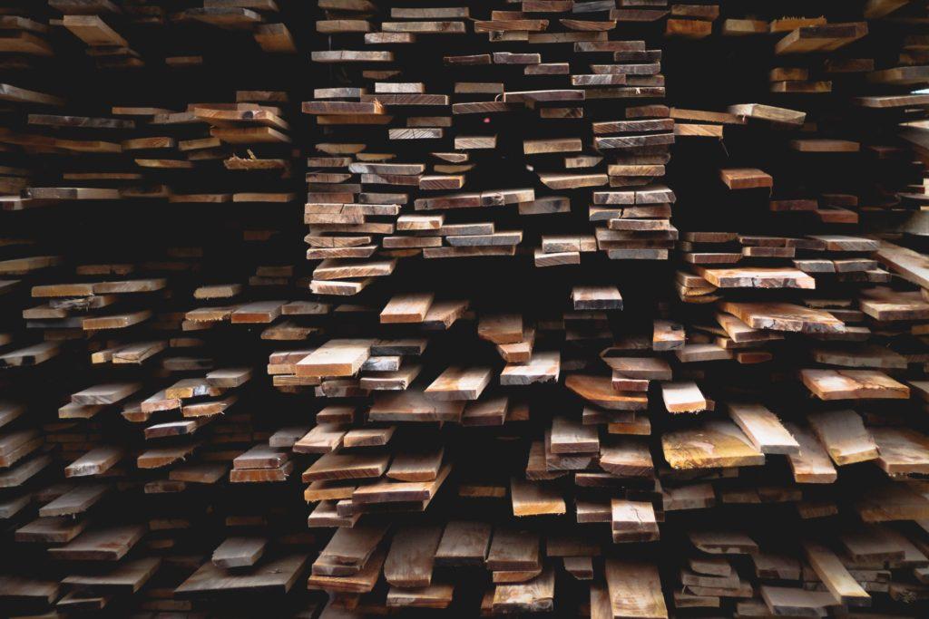 木材の集積