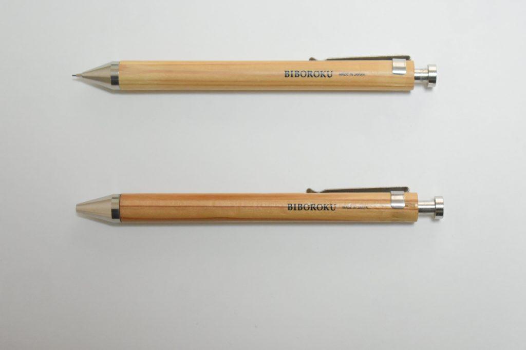 木のボールペンとシャープペン