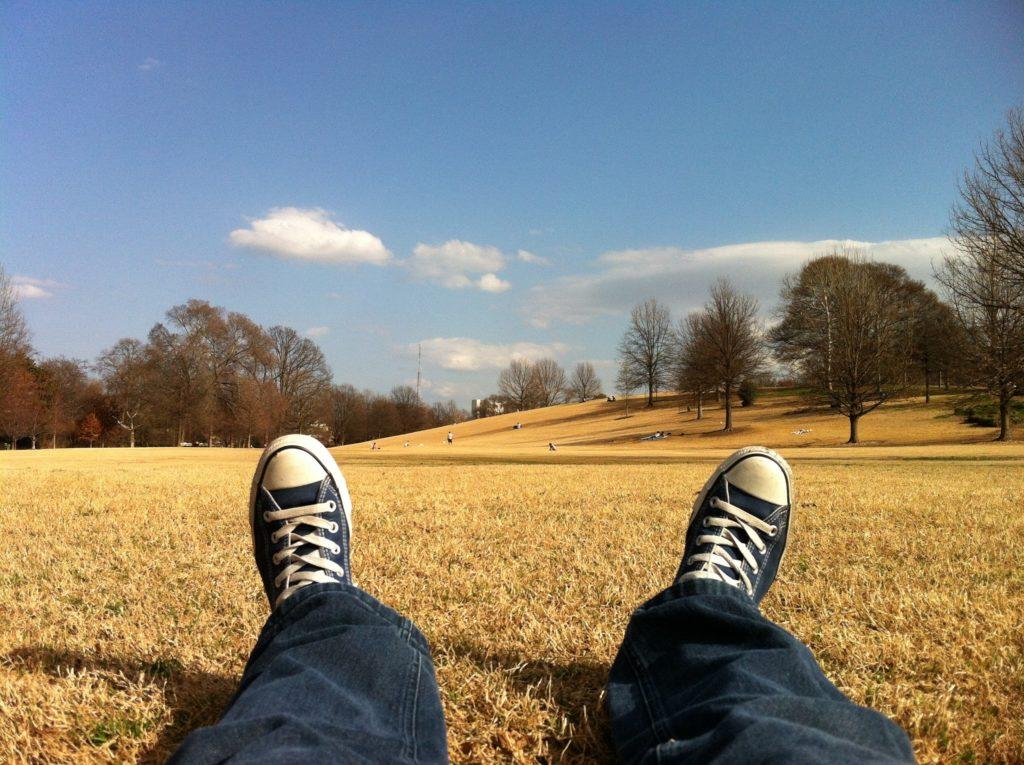 公園で休憩