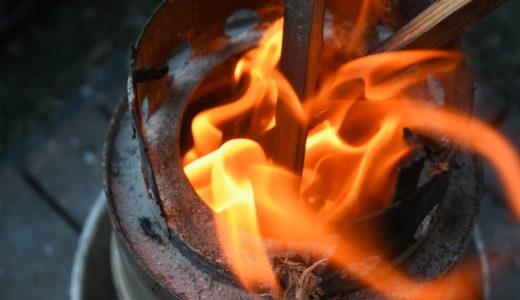 シュレッダー紙を着火剤。ウッドストーブの焚き火に活用する。