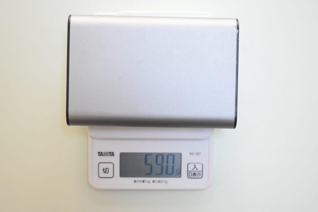バッテリーの本体重量